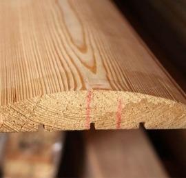 Блок-Хаус из дерева ореха