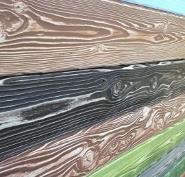 Имитация бруса из орехового дерева