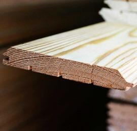 Имитация бруса из дерева ореха