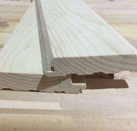 Имитация деревянного бруса из ясеня