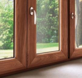 Окна из массива орехового дерева