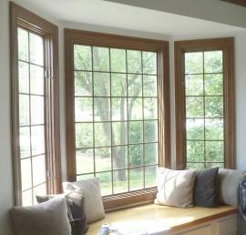 Панорамные окна из сосны