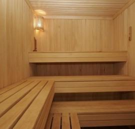 Деревянный полок для бани из бука