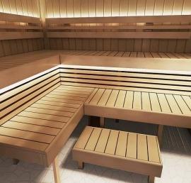 Липовый полок для бани