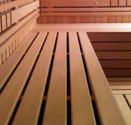 Деревянный полок для бани из ясеня