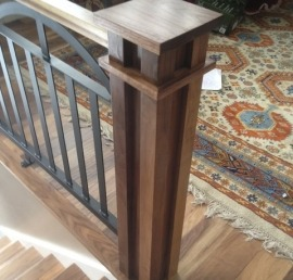 Поручни для лестниц из массива ореха