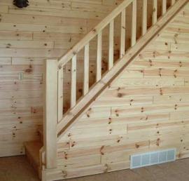 Поручни для лестниц из массива сосны