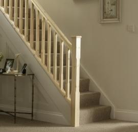 Поручни из сосны для лестниц
