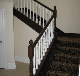 Поручни из бука для лестниц