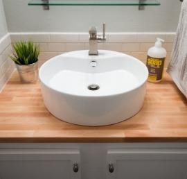 Деревянные столешницы для ванной