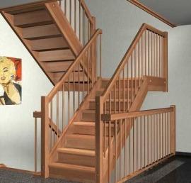 Тетива для лестниц из массива лиственницы