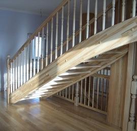 Тетива для лестниц из сосны